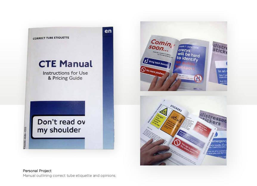 CTE Booklet London designer