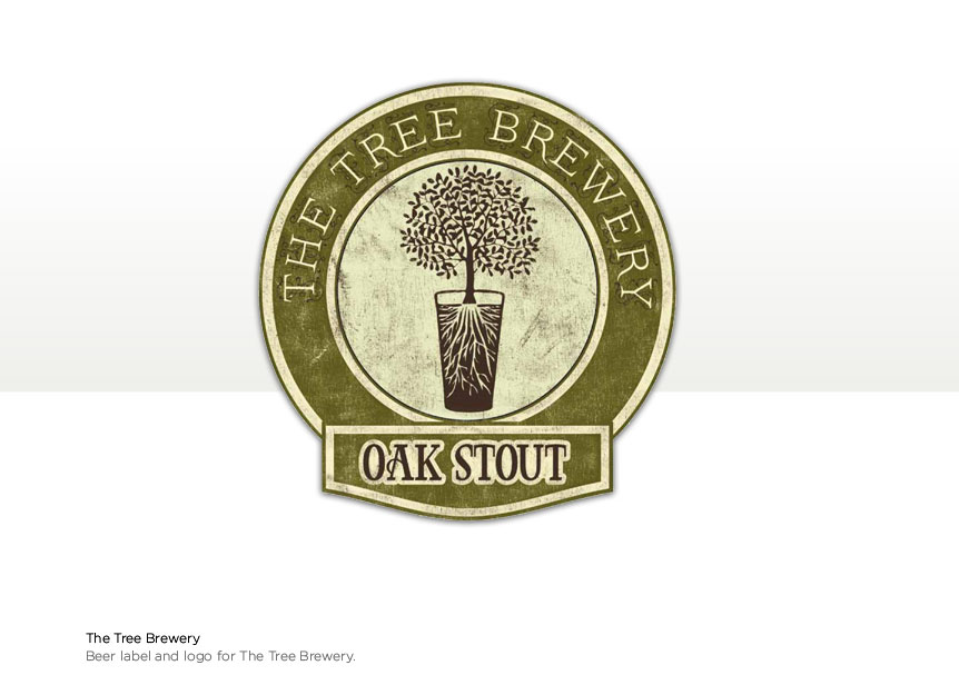 Logo Label Design for a The Tree Brewery