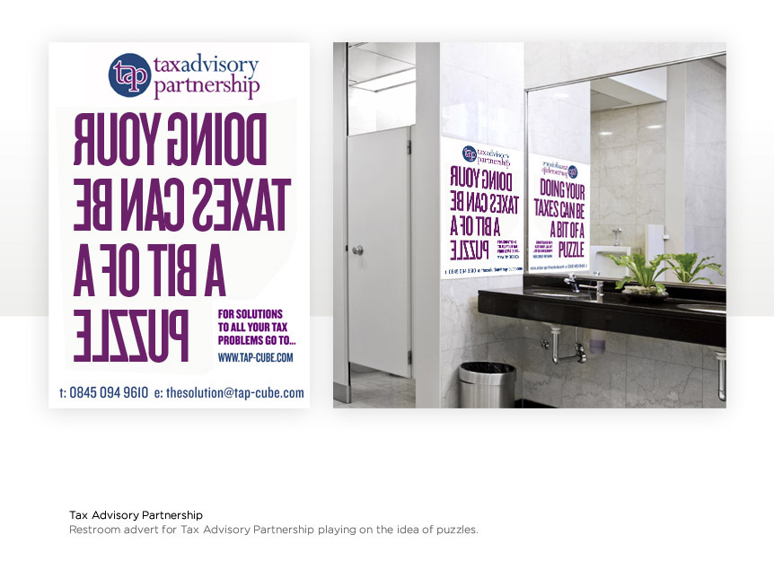 Innovative poster design for a Tax company