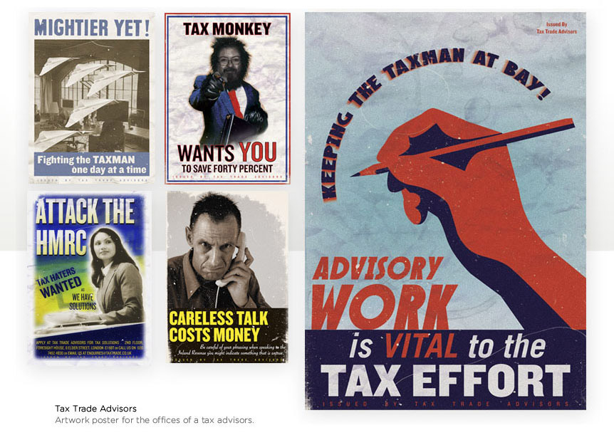 Art Posters for a Tax Company