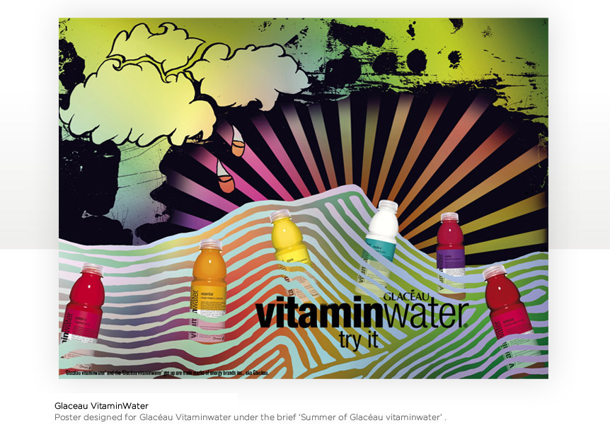 Collage for Glaceau Vitamin Water